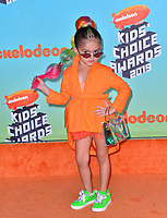 LOS ANGELES, CA. March 23, 2019: Taylen Biggs at Nickelodeon's Kids' Choice Awards 2019 at USC's Galen Center.<br /> Picture: Paul Smith/Featureflash