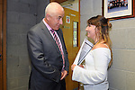 12/8/2015  Principle Padraig Flannagan, Castletroy College and Caoimhe Ryan, Boher, who received 510 Leaving Cert Points.<br /> Pic: Gareth Williams / Press 22