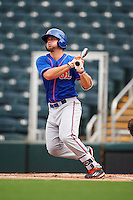 St. Lucie Mets third baseman David Thompson (23) at bat during a game against the Fort Myers Miracle on August 9, 2016 at Hammond Stadium in Fort Myers, Florida.  St. Lucie defeated Fort Myers 1-0.  (Mike Janes/Four Seam Images)