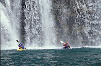 Kayakers below Elko Falls. Elk River near Fernie, BC