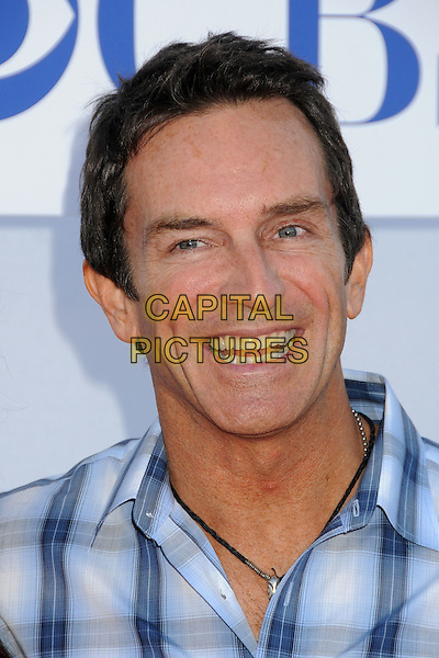 Jeff Probst.CBS, CW, Showtime 2012 Summer TCA Party held at The Beverly Hilton Hotel, Beverly Hills, California, USA..July 29th, 2012.headshot portrait white blue check shirt  .CAP/ADM/BP.©Byron Purvis/AdMedia/Capital Pictures.