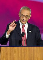 John Pedesta, Chairman of Hillary for America, announces there are more votes to be counted and there will be no announcements from the campaign until the morning at the Jacob K. Javits Convention Center in New York, New York on <br />