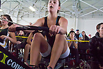 Rowing, rowers on rowing machines, Ergomania, Northwest Indoor Rowing Championship, Seattle, Pocock Rowing Foundation, Concept II, Magnuson Park,