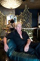 Mark Brazier-Jones in the bedroom suite he designed in the Collectors' Villa at Iniala