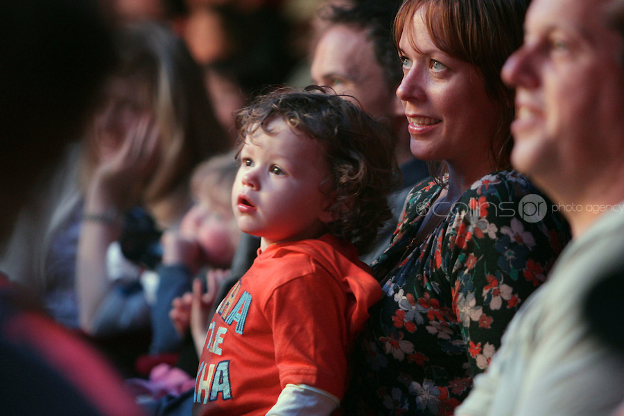 NO FEE PICTURES 5/5/11 A child in the audience pictured at the opening night of Disney Live! Mickeys Musical Adventure at the Grand Canal Theatre, Dublin. The spectacular stage show features all your Disney favourites and runs until this Sunday. Picture:Arthur Carron/Collins