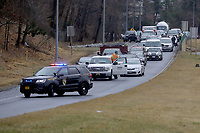 Vehicle traffic is kept off the Capital Beltway as United States President Donald J. Trump's motorcade heads to Walter Reed National Military Medical Center for his annual physical examination January 12, 2018 in Bethesda, Maryland. Trump will next travel to Florida to spend the Dr. Martin Luther King Jr. Day holiday weekend at his Mar-a-Lago resort.<br /> Credit: Chip Somodevilla / Pool via CNP /MediaPunch