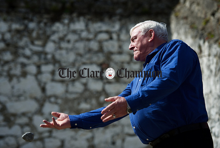 TJ Moloney in action at the World Stone Throwing Championships in Corofin. Photograph by John Kelly.
