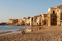 Beach at Cefalu, Sicily