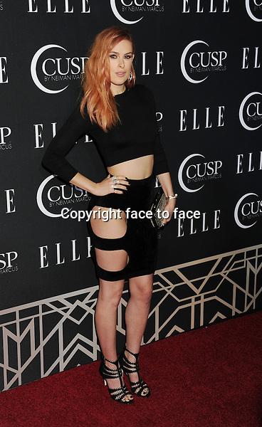 HOLLYWOOD, CA- APRIL 22: Actress Rumer Willis arrives at ELLE's 5th Annual Women In Music concert celebration at Avalon on April 22, 2014 in Hollywood, California.<br />