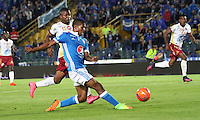 BOGOTA -COLOMBIA, 22-02-2017. Harold Mosquera player of Millonarios in actions  agaisnt Tolima.Action game beteween  Millonarios  and Tolima  during match for the date 5 of the Aguila League I 2017 played at Nemesio Camacho El Campin stadium . Photo:VizzorImage / Felipe Caicedo  / Staff