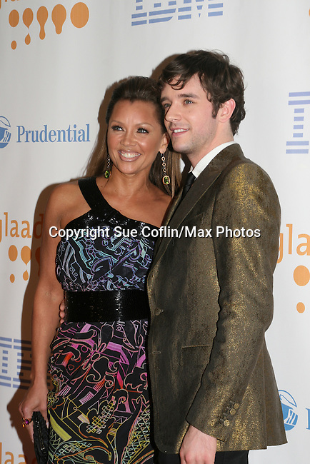 Ugly Betty's Vanessa Williams and Michel Urie at the 20th Annual GLAAD Media Awards on March 28, 2009 at the New York Marriott, New York City, NY. (Photo by Sue Coflin/Max Photos)