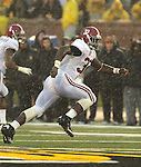 Alabama Crimson Tide linebacker C.J. Mosley (32) runs in the second half. The Alabama Crimson Tide defeated the Missouri Tigers 42-10 at Memorial Stadium in Columbia, Missouri on October 13, 2012.