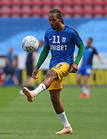 Preston North End's Daniel Johnson during the pre-match warm-up <br /> <br /> Photographer David Shipman/CameraSport<br /> <br /> The EFL Sky Bet Championship - Wigan Athletic v Preston North End - Monday 22nd April 2019 - DW Stadium - Wigan<br /> <br /> World Copyright © 2019 CameraSport. All rights reserved. 43 Linden Ave. Countesthorpe. Leicester. England. LE8 5PG - Tel: +44 (0) 116 277 4147 - admin@camerasport.com - www.camerasport.com