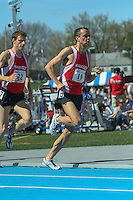 Iowa native and Southwest Missouri State (Missouri State University) Alum Blake Boldon, running professionally for Saucony, races to a runner-up finish in the Men's Special Invitational Mile at the 2007 Drake Relays in Des Moines, Ia. Saturday, April 28. Boldon finished in 4:03.15, behind Alan Webb's meet record 3:51.71, which was later voted the top performance in the history of the Drake Relays.