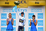 Simon Yates (GBR) Orica-Scott retains the White Jersey at the end of Stage 11 of the 104th edition of the Tour de France 2017, running 203.5km from Eymet to Pau, France. 12th July 2017.<br /> Picture: ASO/Pauline Ballet | Cyclefile<br /> <br /> <br /> All photos usage must carry mandatory copyright credit (&copy; Cyclefile | ASO/Pauline Ballet)