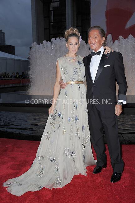 WWW.ACEPIXS.COM . . . . . .September 20, 2012...New York City....Sarah Jessica Parker and  Valentino Garavani  at the New York City Ballet Fall Gala at Lincoln Center celebrating fashion designer Valentino Garavani on September 20, 2012 in New York City ....Please byline: KRISTIN CALLAHAN - ACEPIXS.COM.. . . . . . ..Ace Pictures, Inc: ..tel: (212) 243 8787 or (646) 769 0430..e-mail: info@acepixs.com..web: http://www.acepixs.com .