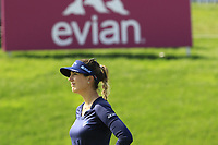 Sandra Gal (GER) on the 18th green during Friday's Round 2 of The Evian Championship 2018, held at the Evian Resort Golf Club, Evian-les-Bains, France. 14th September 2018.<br /> Picture: Eoin Clarke | Golffile<br /> <br /> <br /> All photos usage must carry mandatory copyright credit (&copy; Golffile | Eoin Clarke)