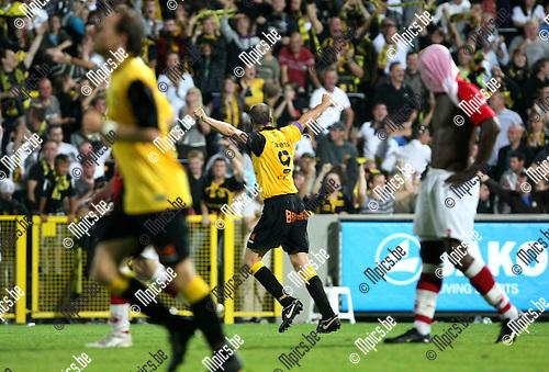 2009-08-26 / Voetbal / seizoen 2009-2010 / Lierse Sk - Antwerp FC / Jurgen Cavens viert zijn gelijkmaker..Foto: Maarten Straetemans (SMB)