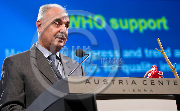 VIENNA - AUSTRIA - 24 OCTOBER 2007 -- The World of Health IT Conference & Exhibition 2007 - (WHIT07) 22-25 October 2007 Austria Center, by The Healthcare Information and Management Systems Society (HIMSS). -- Keynote Address -- Hussein A. GEZAIRY - Regional Director - WHO for Eastern Mediterranean Region. -- PHOTO: JUHA ROININEN / EUP-IMAGES