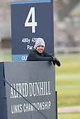 4th October 2017, The Old Course, St Andrews, Scotland; Alfred Dunhill Links Championship, practice round; Rory McIlroy, of Northern Ireland on the 4th tee during a practice round before the Alfred Dunhill Links Championship on the Old Course, St Andrews