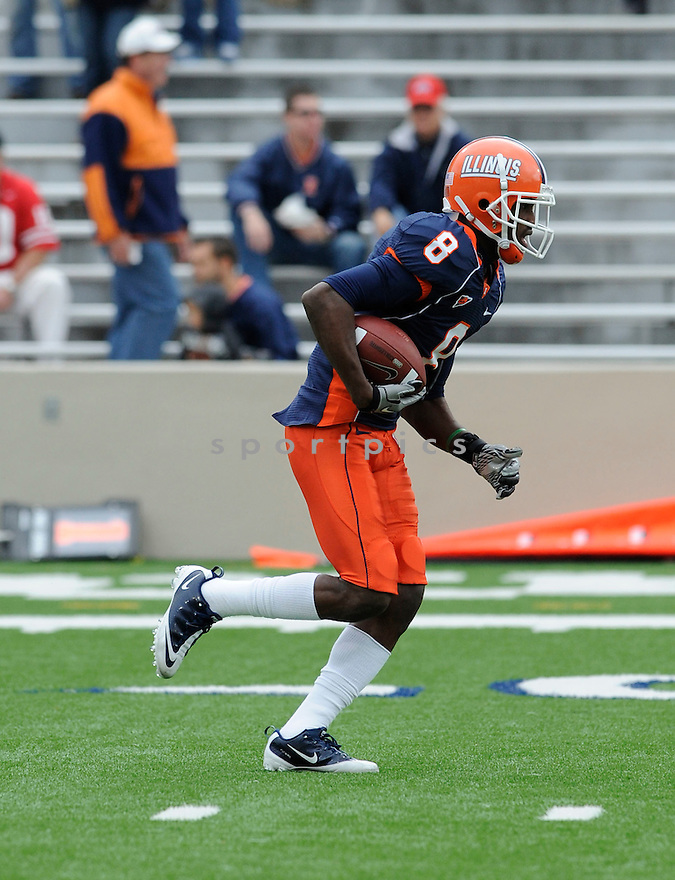 A.J. JENKINS, of Illinois in action during their game against Ohio State on October 2, 2010 in Champaign-Urbana, IL...Alabama won 62-13