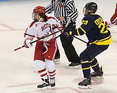 Patrick Curry (BU - 11), Alfred Larsson (Merrimack - 23) - The visiting Merrimack College Warriors defeated the Boston University Terriers 4-1 to complete a regular season sweep on Friday, January 27, 2017, at Agganis Arena in Boston, Massachusetts.The visiting Merrimack College Warriors defeated the Boston University Terriers 4-1 to complete a regular season sweep on Friday, January 27, 2017, at Agganis Arena in Boston, Massachusetts.
