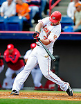9 March 2010: Washington Nationals' infielder Chris Duncan in action during a Spring Training game against the Detroit Tigers at Space Coast Stadium in Viera, Florida. The Tigers defeated the Nationals 9-4 in Grapefruit League action. Mandatory Credit: Ed Wolfstein Photo