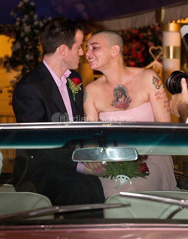 Sinead O'Connor marries Barry Herridge on her 45th Birthday at 'A Little White Wedding Chapel' drive-thru in Las Vegas, NV on December 8, 2011. Erik Kabik / MediaPunch.