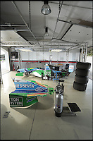 BNPS.co.uk (01202 558833)<br /> Pic: Bonhams/BNPS<br /> <br /> ***Please use full byline***<br /> <br /> Servicing could be an issue...<br /> <br /> One of the most historic F1 cars of all time is coming up for auction - with a glorious but poignant heritage.<br /> <br /> Its the Benetton F1 car which helped rising star Michael Schumacher win his first world championship in 1994.<br /> <br /> The German driver won four Grand Prix in this 1994 Benetton Cosworth Ford B194, including the famous Monaco race.<br /> <br /> But despite the historic car's successful history, it is linked to one of the darkest moments in motor racing history.<br /> <br /> Schumacher was driving this car immediately behind rival Ayrton Senna when the Brazilian driver was killed in a horrific 190mph crash at the Imola circuit in the 1994 San Marina GP.<br /> <br /> Schumacher climbed out of the vehicle moments after the accident and went on to win the race when it controversially restarted.<br /> <br /> The 200mph car is in perfect working order although you will need a F1 circuit to run the 3.5 litre 740bhp monster.<br /> <br /> Bonhams are selling the historic motor with a pre-sale estimate of &pound;600,000.