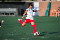 Boston, MA - Friday May 19, 2017: Nadia Nadim prior to a regular season National Women's Soccer League (NWSL) match between the Boston Breakers and the Portland Thorns FC at Jordan Field.