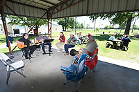 NWA Democrat-Gazette/J.T. WAMPLER Musicians perform at the Tontitown Heritage Day Sunday May 21, 2017 at Harry Sbanotto Park. The annual event is sponsored by the Tontiown Historical Museum and features Italian games, live music and picnicking.