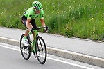 Pierre Rolland (FRA) Cannondale-Drapac breaks away near the end of Stage 17 of the 100th edition of the Giro d'Italia 2017, running 219km from Tirano to Canazei, Italy. 24th May 2017.<br /> Picture: LaPresse/Fabio Ferrari | Cyclefile<br /> <br /> <br /> All photos usage must carry mandatory copyright credit (&copy; Cyclefile | LaPresse/Fabio Ferrari)