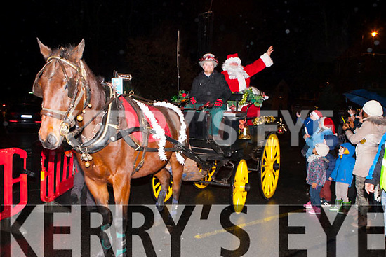 Santa  Claus arrives at the Kenmare Christmas celebrations on Saturday night