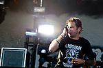 Randy Blythe of Lamb of God performs during the 2013 Rock On The Range festival at Columbus Crew Stadium in Columbus, Ohio.