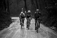 Svein Tuft (CAN/Michelton-Scott) leading the way in the 2nd gravel sector.<br /> <br /> 12th Strade Bianche 2018<br /> Siena &gt; Siena: 184km (ITALY)