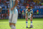 Lionel Messi (ARG),<br /> JULY 5, 2014 - Football / Soccer :<br /> Lionel Messi of Argentina prepares to take a free kick during the FIFA World Cup Brazil 2014 Quarter-finals match between Argentina 1-0 Belgium at Estadio Nacional in Brasilia, Brazil. (Photo by FAR EAST PRESS/AFLO)