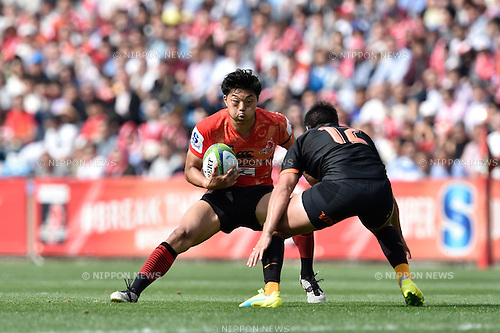 Yasutaka Sasakura (Sunwolves), April 23, 2016 - Rugby : Super Rugby match between Sunwolves 38-26 Jaguares at Prince Chichibu Memorial Stadium in Tokyo, Japan. (Photo by Yuka Shiga/AFLO)