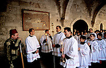 Bethlehem, the Latin Christmas procession at the Church of  St. Catherine &#xA;<br />