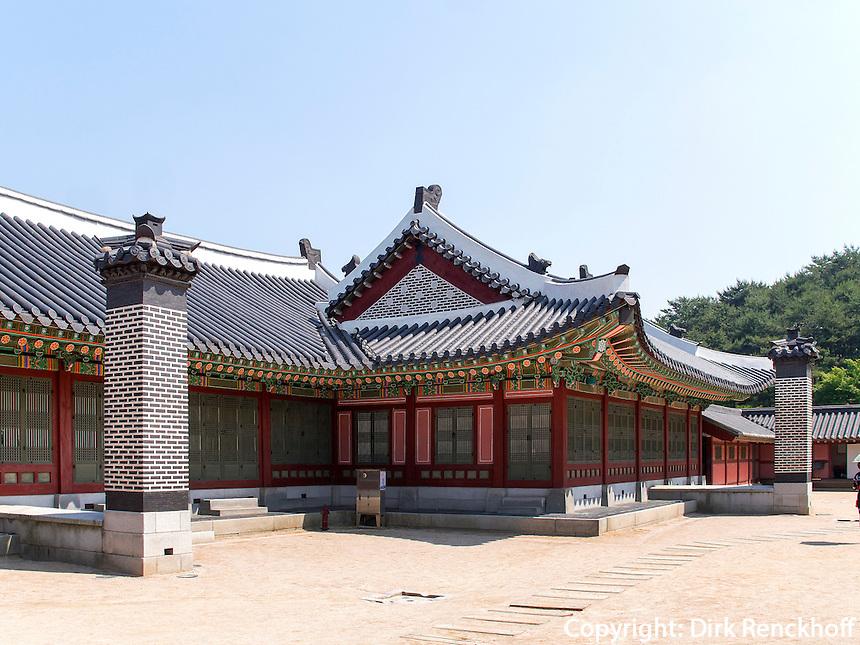 Hwaseong Haenggung Palast in  der Festung-Hwaseong von Suwon, Provinz Gyeonggi-do, S&uuml;dkorea, Asien, Unesco-Weltkultueerbe<br /> Hwaseong Haenggung palace in  fortress Hwaseong, Suwon, Province Gyeonggi-do, South Korea Asia, UNESCO World-heritage