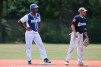15 July 2010: Mervin Beauperthuy is seen next to Stanton Hoover during day 3 of the Open de Rouen, an international tournament with Team France, Team Saint Martin, Team All Star Elite, at Stade Pierre Rolland, in Rouen, France.