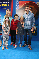 """LOS ANGELES - JAN 6:  Angela Kinsey, her daughter, his sons, Josh Snyder at the """"Paddington 2"""" US Premiere at Village Theater on January 6, 2018 in Westwood, CA"""