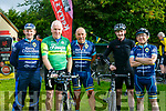 At the The Ring of North Kerry Cycle starting at FINUGE GAA on Saturday were Kerry Crusaders Tom O' Shaughnessy, Jimmy Deenihan, Jurgen Bliessen, Glen Curtin and Billy Stack