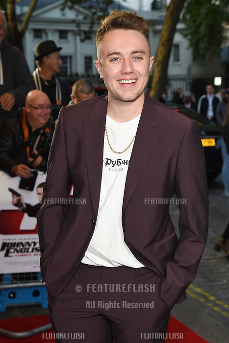 "LONDON, UK. October 03, 2018: Roman Kemp at the premiere of ""Johnny English Strikes Again"" at the Curzon Mayfair, London.<br /> Picture: Steve Vas/Featureflash"