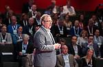BUSSUM -  Dagvoorzitter Maarten Wessels.   Nationaal Golf Congres & Beurs. COPYRIGHT KOEN SUYK