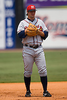 Mississippi third baseman Van Pope (8) on defense versus Chattanooga at AT&T Field in Chattanooga, TN, Wednesday, July 25, 2007.