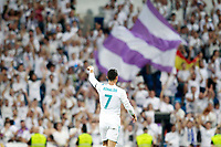 Real Madrid's Cristiano Ronaldo celebrates goal with the supporters during Santiago Bernabeu Trophy. August 23,2017. (ALTERPHOTOS/Acero) /NortePhoto.com