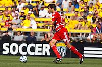 28 AUGUST 2010:  FC Dallas' George John (14) during MLS soccer game between FC Dallas vs Columbus Crew at Crew Stadium in Columbus, Ohio on August 28, 2010.