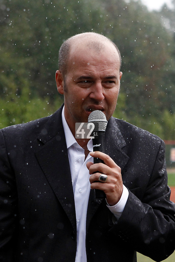 17 July 2011: Didier Seminet, President of the French Federation of Baseball, is seen after the 2011Challenge de France final match won 6-4 by the Rouen Huskies over the Savigny Lions, at Stade Pierre Rolland, in Rouen, France.