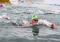Maiana Flament wins the 5km. Swimming New Zealand Open Water Championships, 5km Epic, Lake Taupo, Waikato, New Zealand, Sunday 14 January 2018. Photo: Simon Watts/www.bwmedia.co.nz