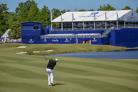 Shane Lowry (IRL) hits his second shot on 18 during Round 1 of the Zurich Classic of New Orl, TPC Louisiana, Avondale, Louisiana, USA. 4/26/2018.<br /> Picture: Golffile | Ken Murray<br /> <br /> <br /> All photo usage must carry mandatory copyright credit (&copy; Golffile | Ken Murray)